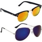Royalmede Clubmaster, Aviator Sunglasses(Multicolor, Blue)