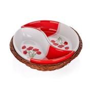 Set vase de servit BANQUET Red Poppy, 2 piese în coş