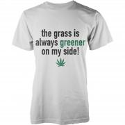 Geekdown Camiseta The Grass Is Always Greener On My Side - Hombre - Blanco - XXL - Blanco