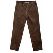 Pantaloni reiati pentru barbati talie regular cu gaici pentru curea Maro marimea 54