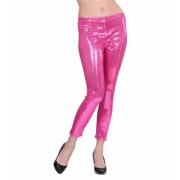 Pink flitteres leggings M méret