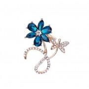 Martisor Brosa Floare Petale Albastre