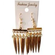 Fancy Golden Stone Earrings Set Earring for Girls Women Earrings
