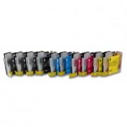 Printflow Compatível: Pack 10 Tinteiros Brother LC980/LC1100 (CMYK)