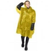 Geen Wegwerp regen poncho geel