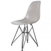Charles Eames eetkamerstoel DD DSR Zwart frame ABS lichtgrijs
