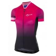 Női prémium jersey Rogelli FLOW rövid ujj, pink és black 010.174.