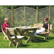 Komplet mebli masywnych stół prostokątny
