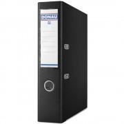 Biblioraft A4, plastifiat PP/PP, margine metalica, 75 mm, Donau Premium - negru