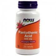 Витамин B-5 500 мг. - Vitamin B-5 - Pantothenic Acid - 100 капсули - NOW FOODS, NF0486