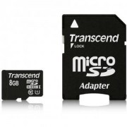 Flash карта Transcend 8GB micro SDHC UHS-I Premium (with adapter, Class 10) - TS8GUSDU1