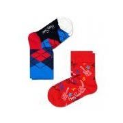 Happy Socks-Sokken-2-pack Socks Guitar-Rood