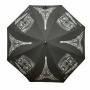 Doppler Umbrelă complet automată femei Flex AC Paris- neagră 740765P