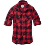 Brandit Amy Flanell Women´s Shirt Black Red 4XL