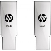 HP V237W Combo of Two 16 GB Metal Pen Drive USB 2.0 Flash Drive 16 GB Pen Drive(Silver)