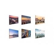 VakantieVeilingen.be Canvas Skylines 60x40 cm (22 varianten)