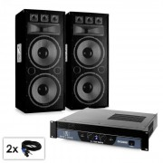 "Set PA ""WarmUp Party TX215"" Casse 2x38cm amplificatore 3000w"