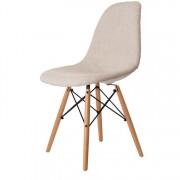 Charles Eames eetkamerstoel DD DSW upholstered beige
