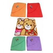 Furn@Home Teddy design multicolor baby blanket - Set of 4