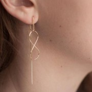 "Elise et moi Durchzieher-Ohrringe ""Infinity"" goldfarben"