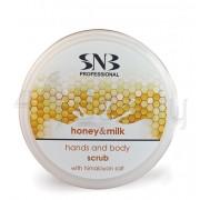 SNB Скраб за ръце и тяло с хималайска сол, мед и мляко 300 мл.