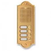 > Pulsantiera citofonica 4 pulsanti in ottone PLM PERLA