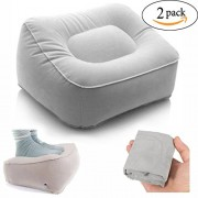 Inflatable Foot Rest Pillow - 2 Pack Leg Up Footrest for Travel Office & Home Relax pillow Cushion