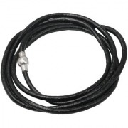 Men Style 4mm Rope Four Layer Multilayer Braided Magnetic Clasp Black Silver Leather Stainless Steel Bracelet For Men