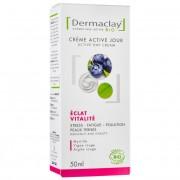 Dermaclay Crème active jour bio Eclat Vitalité Teint terne 50ml