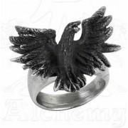 prsten Flocking Raven - ALCHEMY GOTHIC - R197