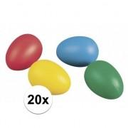 Rayher hobby materialen Gekleurde paaseieren 20 stuks