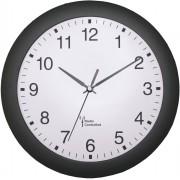 Ceas de perete analogic radiocomandat 30 cm, negru