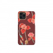 KINGXBAR Flower Series PC Phone Shell with Magnetic Sheet for Apple iPhone 11 Pro Max 6.5 inch - Kapok