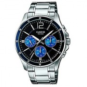 Casio Enticer Analog Black Dial Mens Watch - Mtp-1374D-2Avdf(A950)