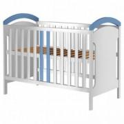 Patut Copii din Lemn 120x60 cm Hansell Fun Life - White-Blue