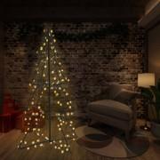 vidaXL Коледна елха конус, 240 LED, закрито и открито, 115x150 см