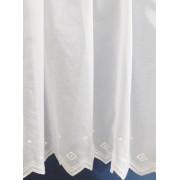 Fehér voila függöny fehér nyírt mintával A.C. méterben/017/Cikksz:01140280