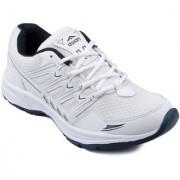 Asian Men's White Blue Running Shoe