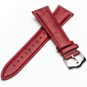 QIALINO Genuine Leather Watch Band for Huawei Watch 2 Pro / GT Porsche Design - Red
