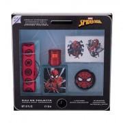 Marvel Spiderman confezione regalo eau de toilette 30 ml + adesivi + portachiavi + porta cellulare per bambini