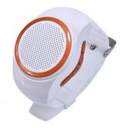 Mini Bluetooth Deportes Música Portátil Reloj Altavoz Shuua B20 Para Xiaomi Iphone Samsung - Blanco