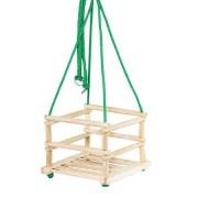 Leagan clasic de lemn cu 4 prinderi pentru copii