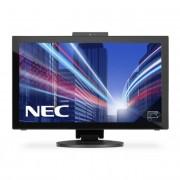 NEC monitor MultiSync LED E232WMT 23\ Full HD, IPS, DVI, HDMI, Web-Cam, fekete