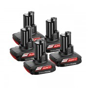 BOSCH Set 5 acumulatori wireless LI-Ion, 12 V, 2.5 Ah