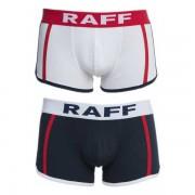 Anaissa Raff [2 Pack] Cotton Smile Sport Boxer Brief Underwear Marine & White 84655