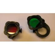 Wolf-Eyes FD42 Rot u. Grün Filter 6AX MC-SNIPER / MC-E T3 Fenix LD40