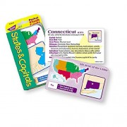 TREND ENTERPRISES INC. POCKET FLASH CARDS 56-PK STATES AND (Set of 12)