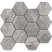 Mozaic Ceramic Hexagonal Sintesi, Nepal Grey 34x30 cm -MHSNG300340
