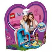 Конструктор Лего Френдс - Лятната кутия с форма на сърце на Olivia - LEGO Friends, 41387