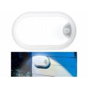 Luminea Lampe LED ovale antichoc 1050 lm / 15 W / 4000 K - Avec détecteur